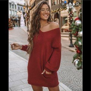 Blackbird Pocketed Sweater Dress